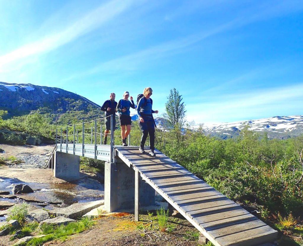 Bro på stien til Trolltunga-Aase Marie Evjen