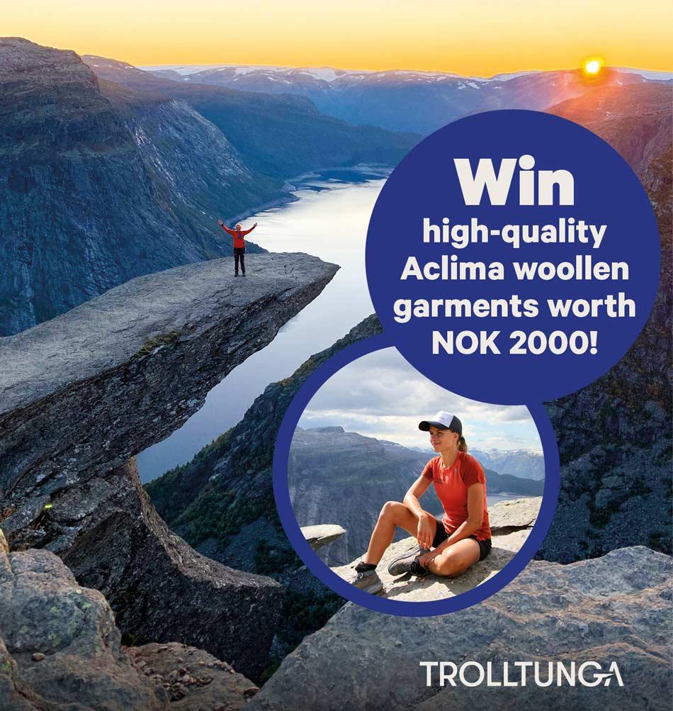Win high-quality Aclima woollen garments worth NOK 2000!